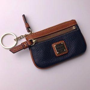 DOONEY & BOURKE Navy Brown Keychain Card Holder